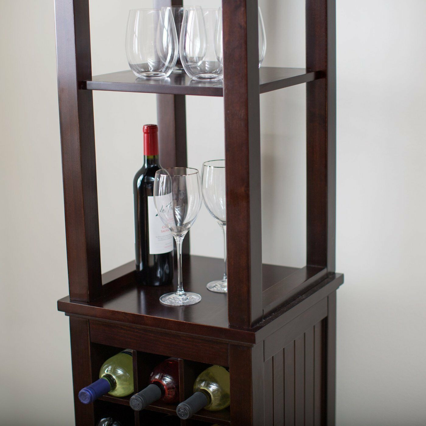 Best ideas about Cabinet With Wine Rack . Save or Pin Wine Rack Cabinet Bottle Holder Storage Stand Tower Tall Now.