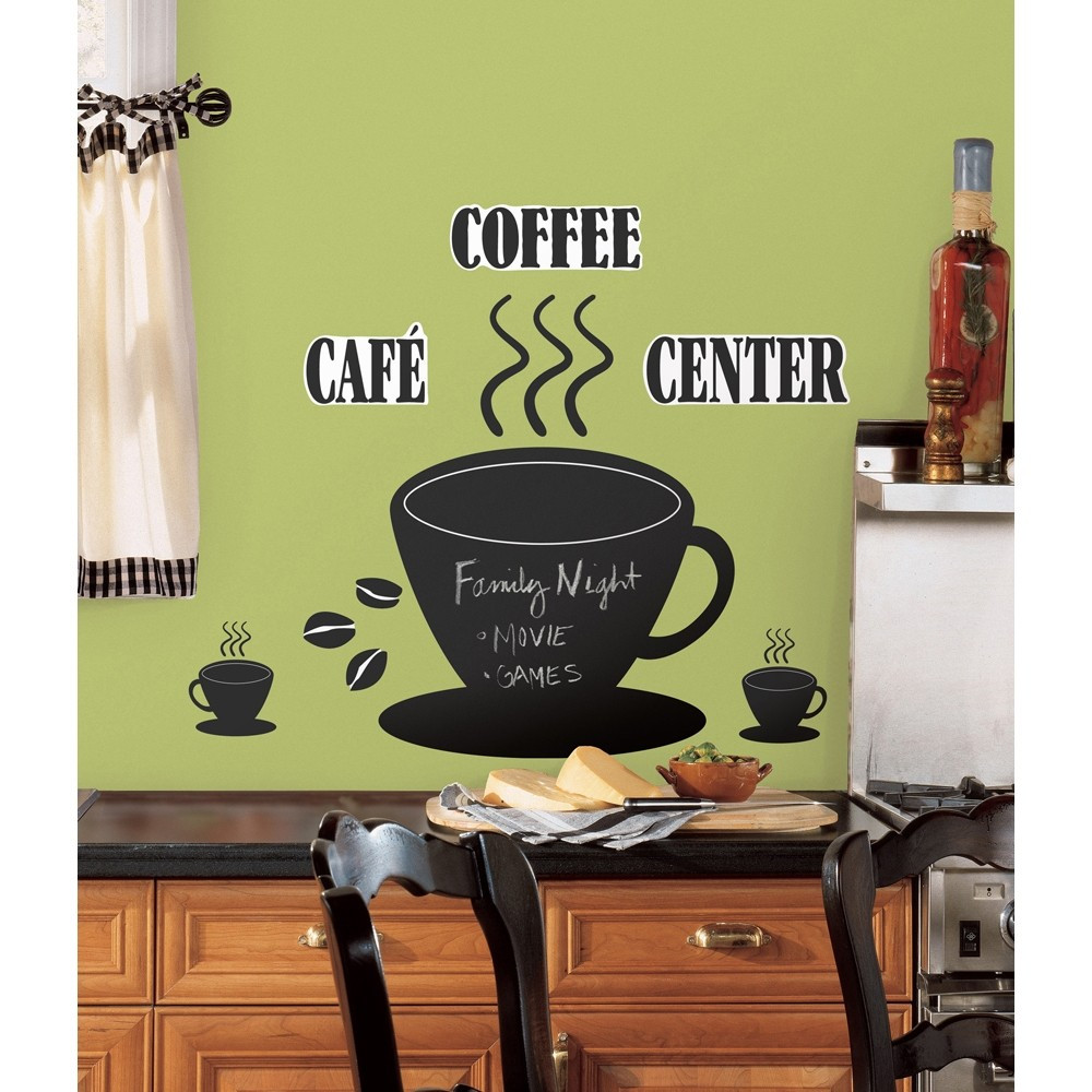 Best ideas about Cafe Kitchen Decor . Save or Pin New COFFEE CUP CHALKBOARD WALL DECALS Kitchen Now.