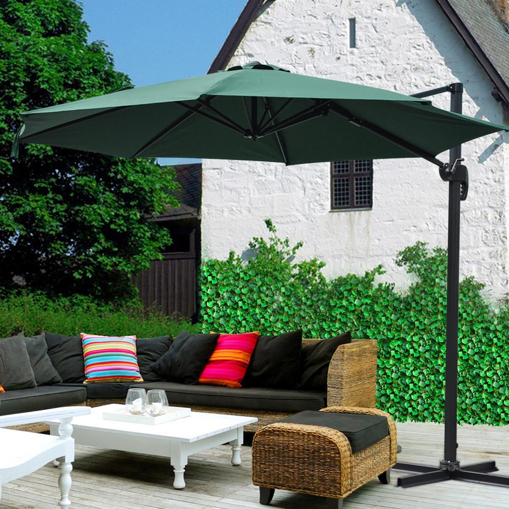 Best ideas about Cantilever Patio Umbrella . Save or Pin 10 Deluxe Patio Hanging Roma fset Umbrella Outdoor Now.