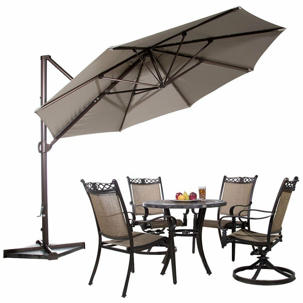 Best ideas about Cantilever Patio Umbrella . Save or Pin 11ft fset Cantilever Patio Umbrella w Tilt Crank Outdoor Now.