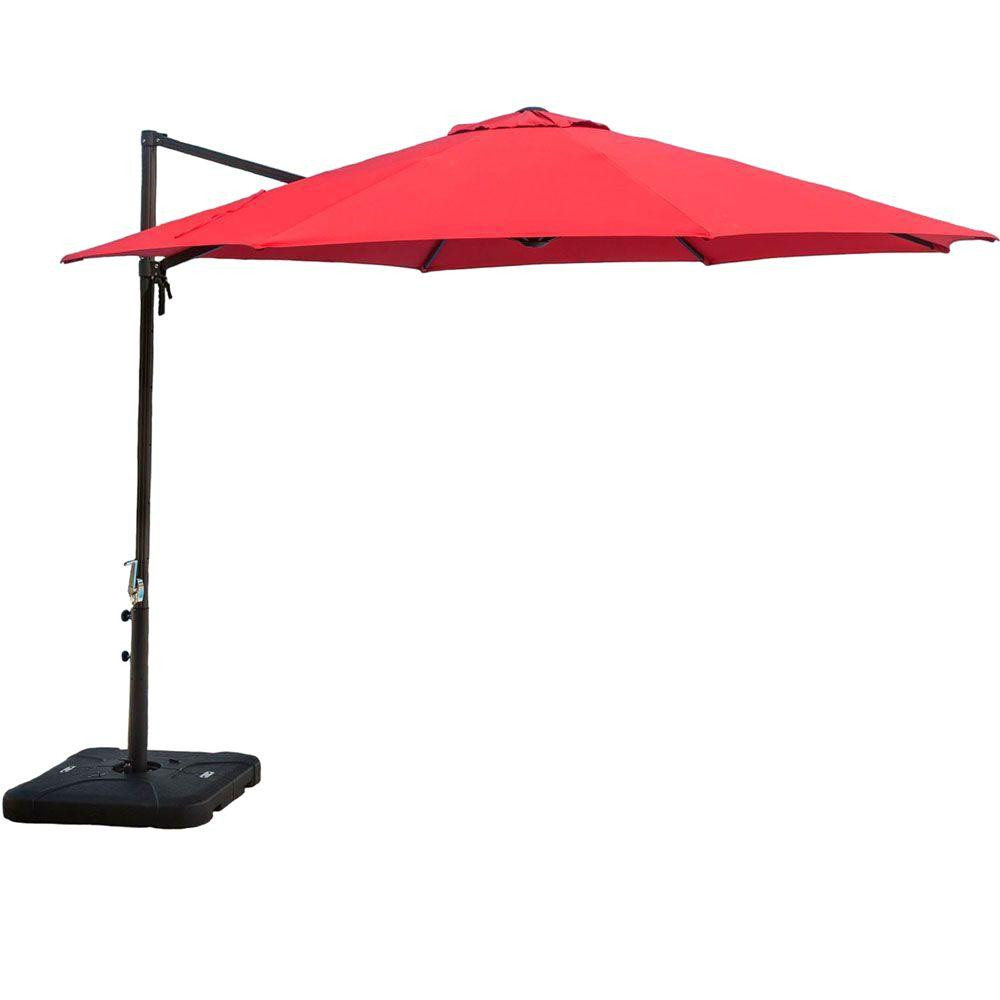 Best ideas about Cantilever Patio Umbrella . Save or Pin Hanover 11 ft Cantilever Patio Umbrella in Red CANTILEVER Now.