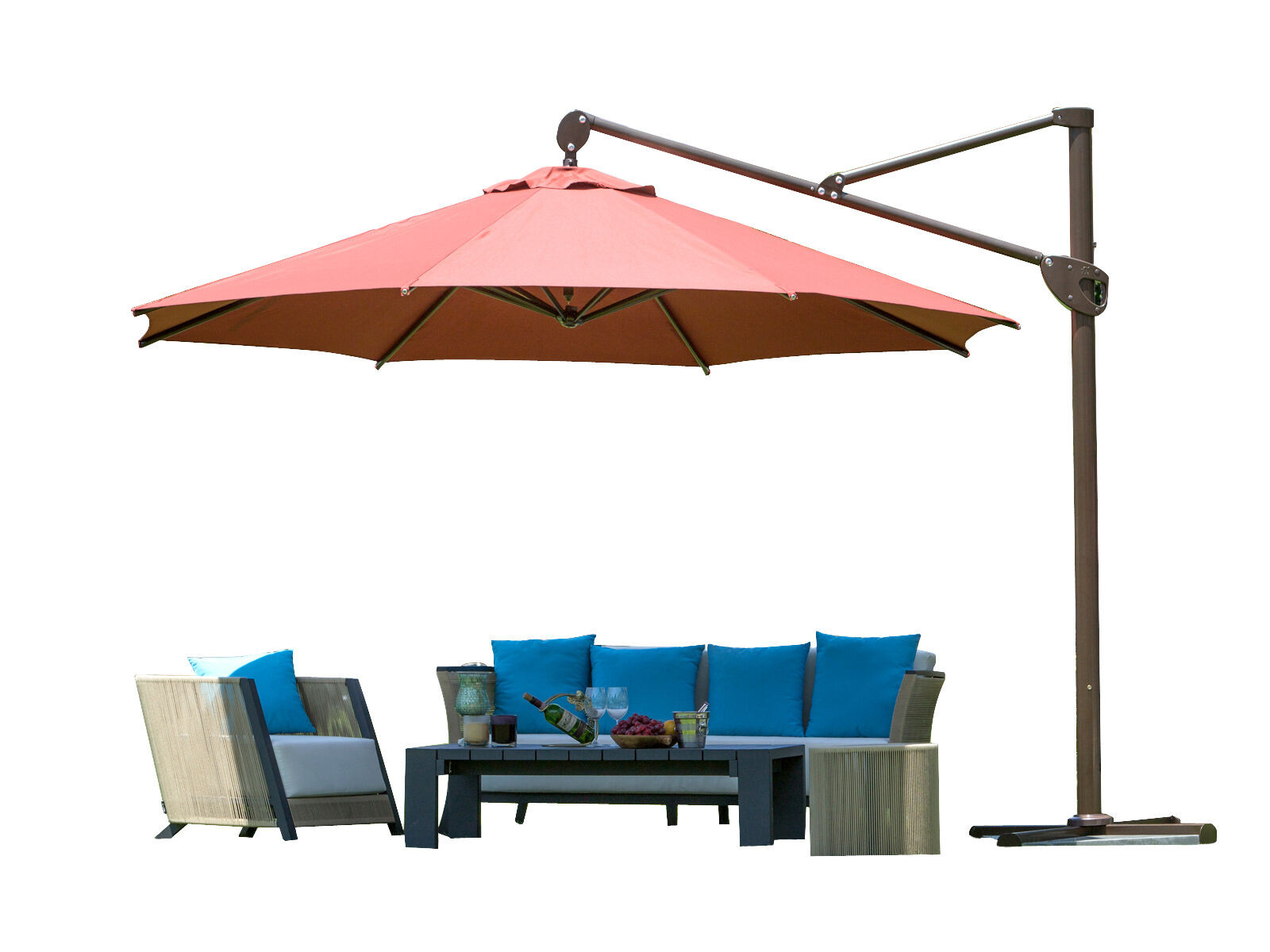 Best ideas about Cantilever Patio Umbrella . Save or Pin 11' fset Cantilever Patio Umbrella Tilt Hanging Canopy Now.