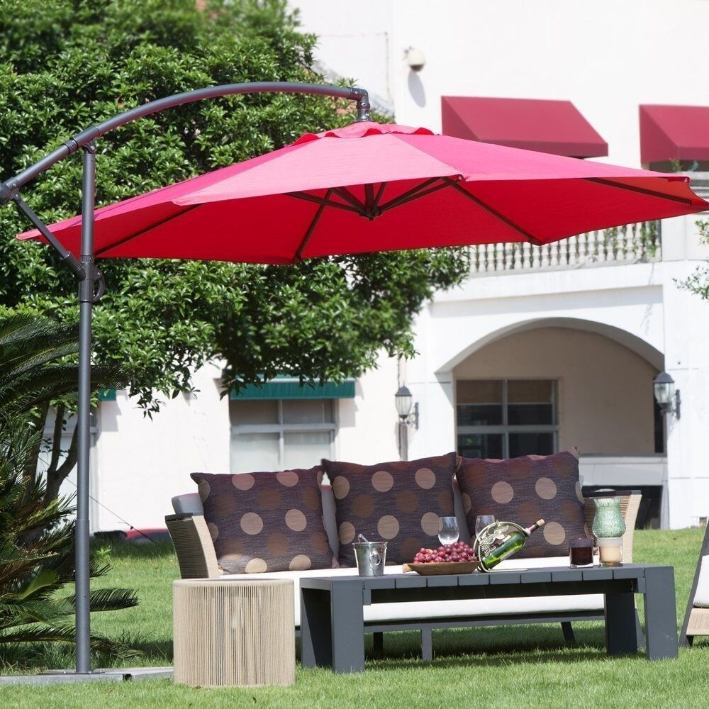 Best ideas about Cantilever Patio Umbrella . Save or Pin fset Patio Umbrella Red Outdoor Furniture Cantilever Now.