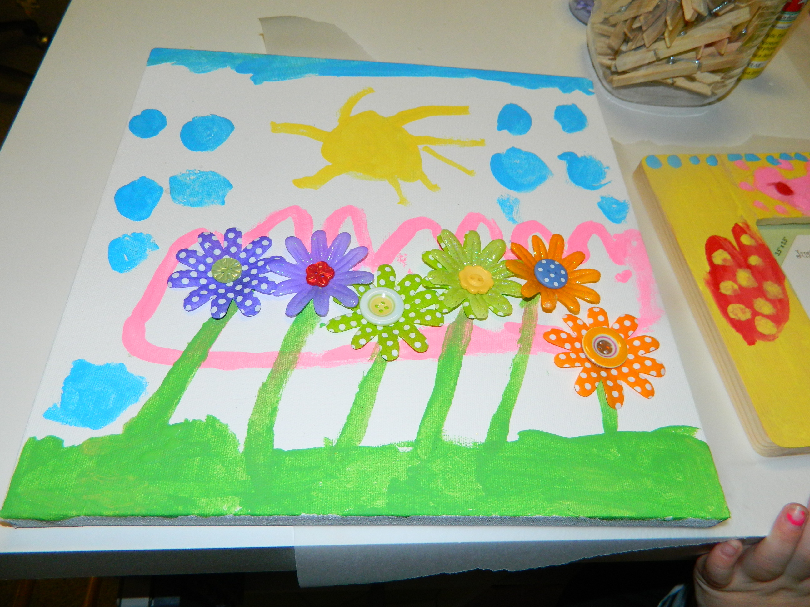 Best ideas about Canvas Crafts For Toddlers . Save or Pin Creative How to Make Painted Art Canvas & Paper Flower Now.