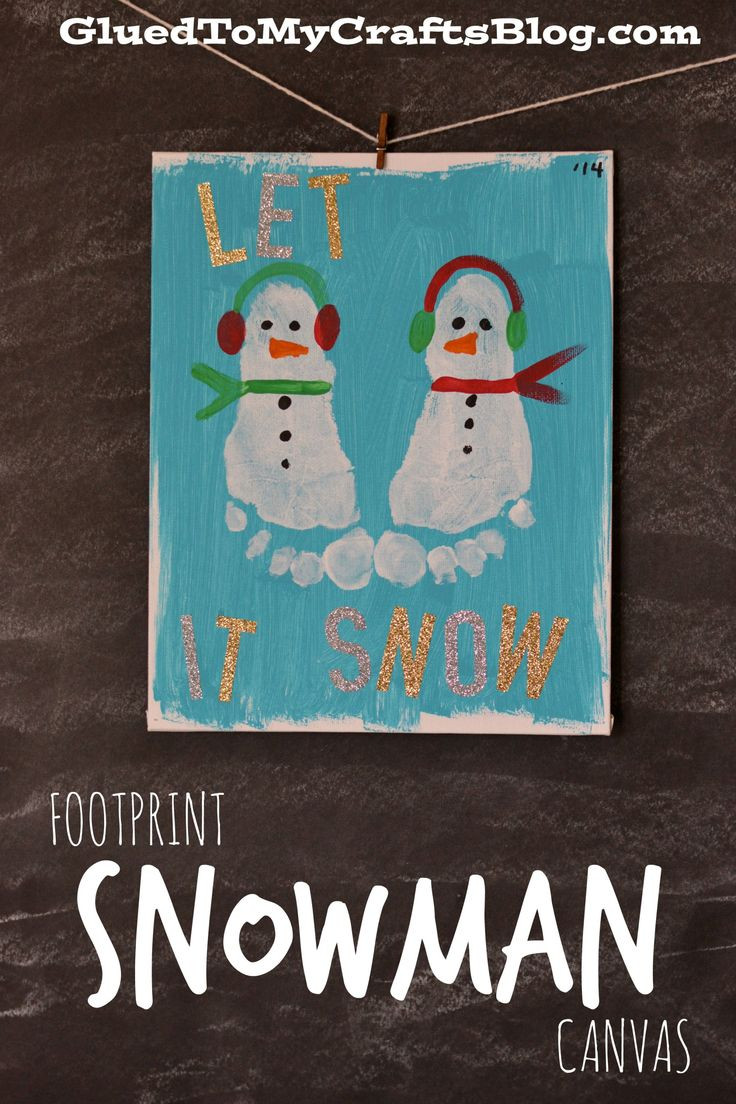 Best ideas about Canvas Crafts For Toddlers . Save or Pin Handprint & Footprint Christmas Canvas Ideas Now.