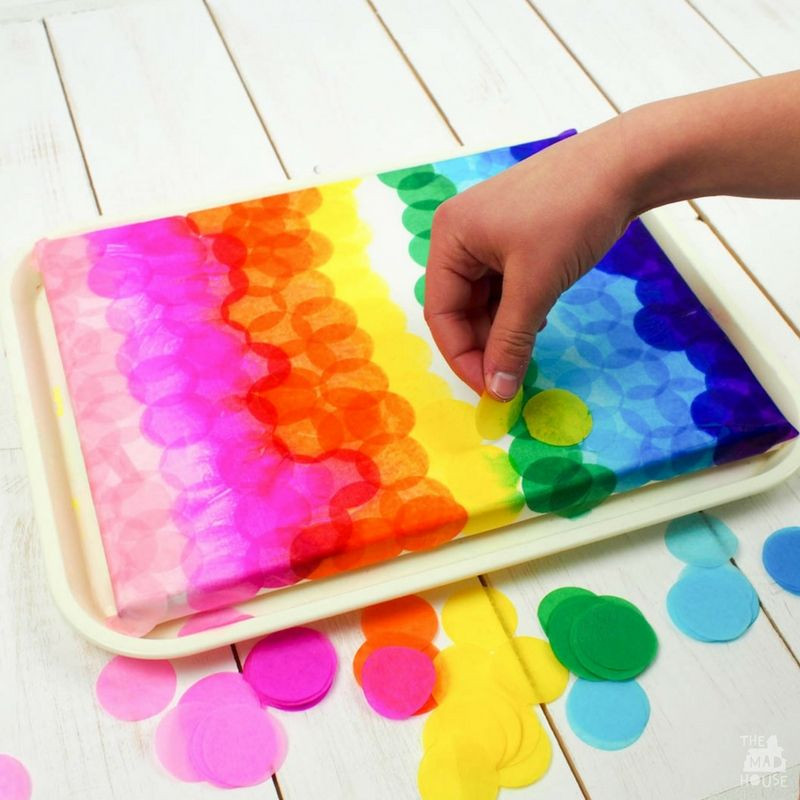 Best ideas about Canvas Crafts For Toddlers . Save or Pin Bleeding Tissue Paper Canvas Art Projects Now.