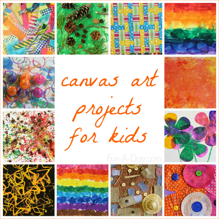 Best ideas about Canvas Crafts For Toddlers . Save or Pin Canvas Art Ideas for Kids to Make Now.