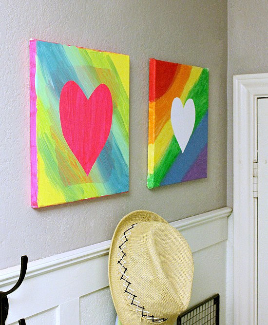 Best ideas about Canvas Crafts For Toddlers . Save or Pin Easy Canvas Art Now.