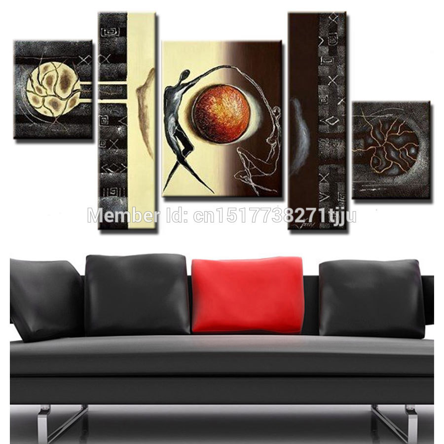 Best ideas about Canvas Wall Art Sets . Save or Pin Hand Painted canvas oil painting Abstract Canvas Wall Art Now.