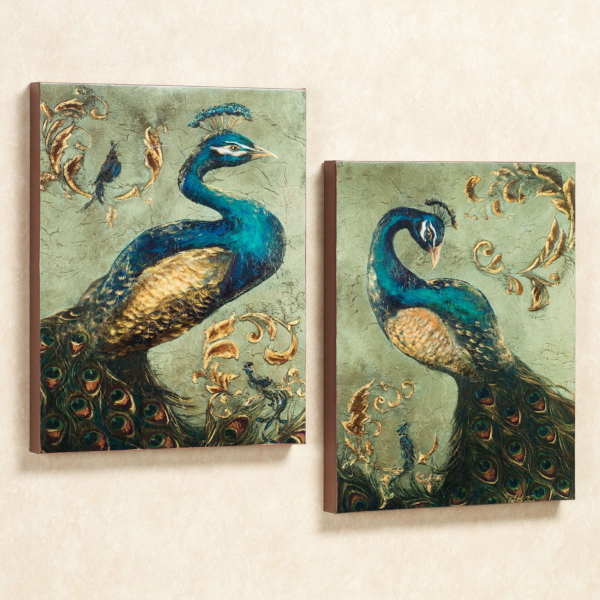 Best ideas about Canvas Wall Art Sets . Save or Pin Peacock Canvas Wall Art Set Now.