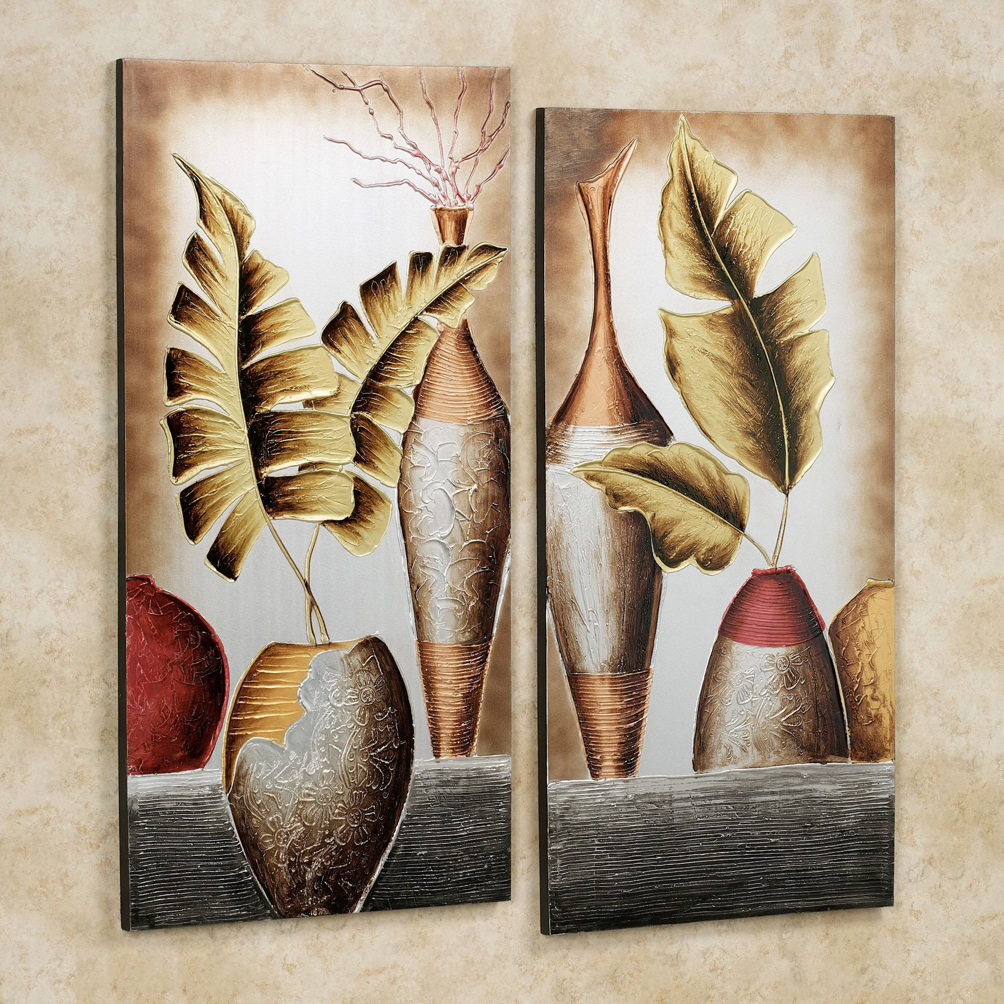 Best ideas about Canvas Wall Art Sets . Save or Pin Grecian Pottery Canvas Wall Art Set Now.