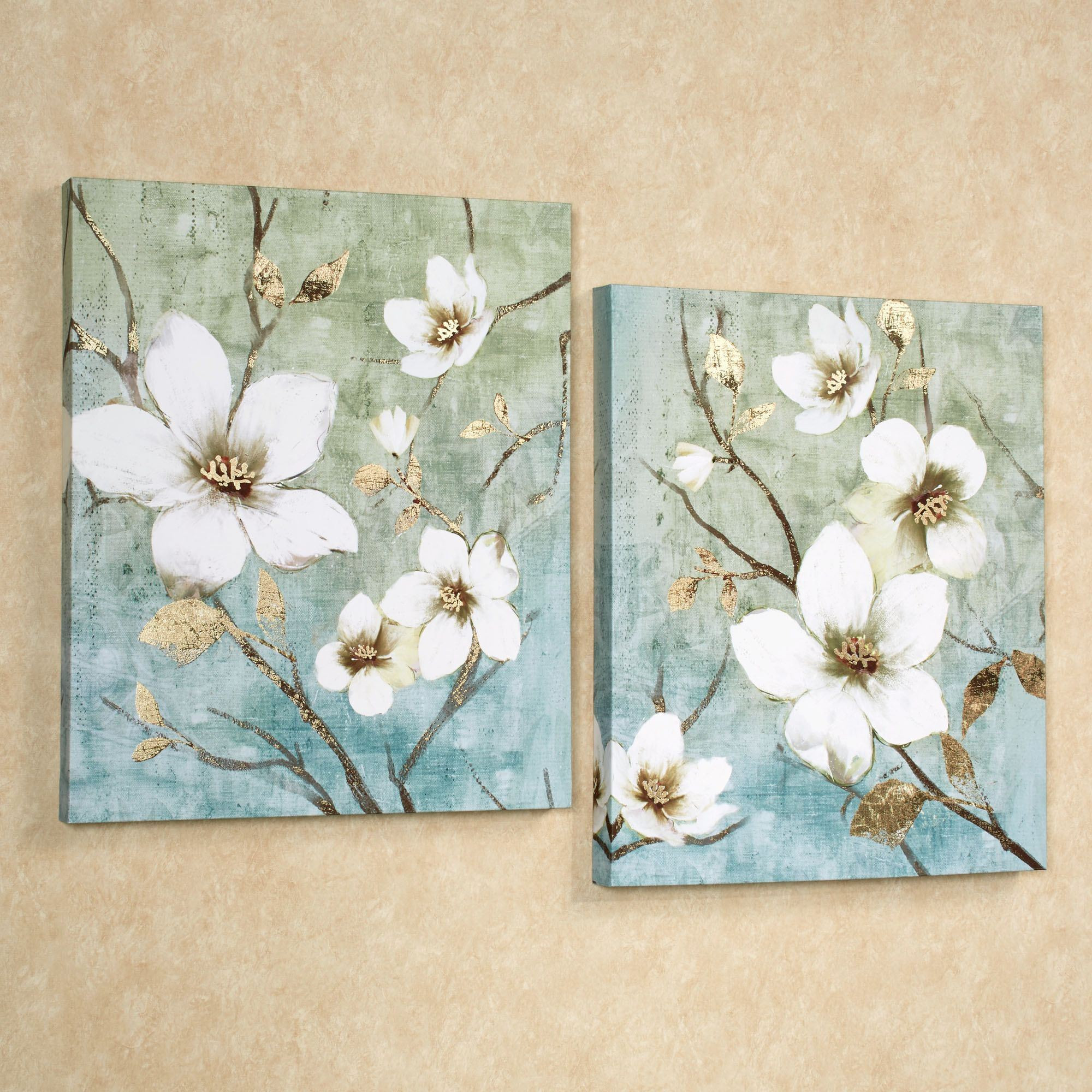 Best ideas about Canvas Wall Art Sets . Save or Pin In Bloom Floral Canvas Wall Art Set Now.