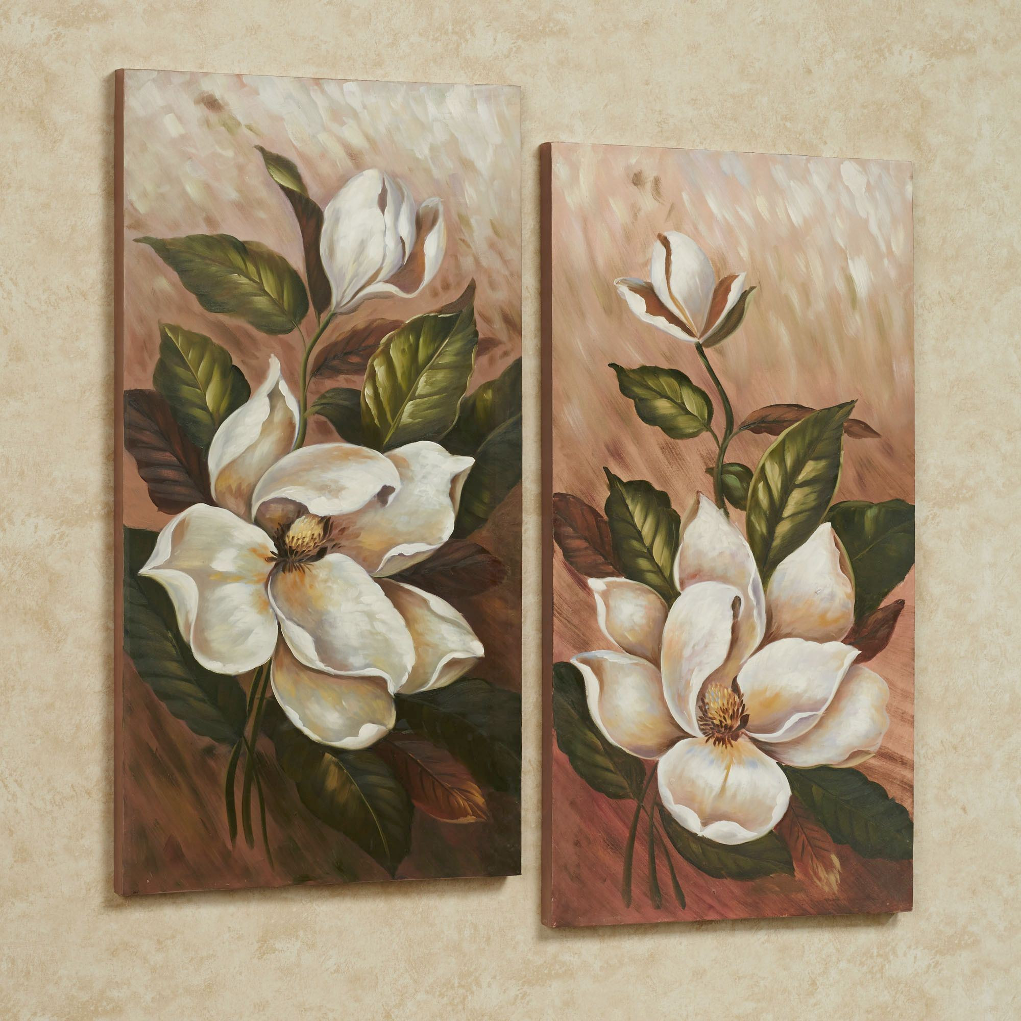 Best ideas about Canvas Wall Art Sets . Save or Pin Annalynn Magnolia Floral Canvas Wall Art Set Now.