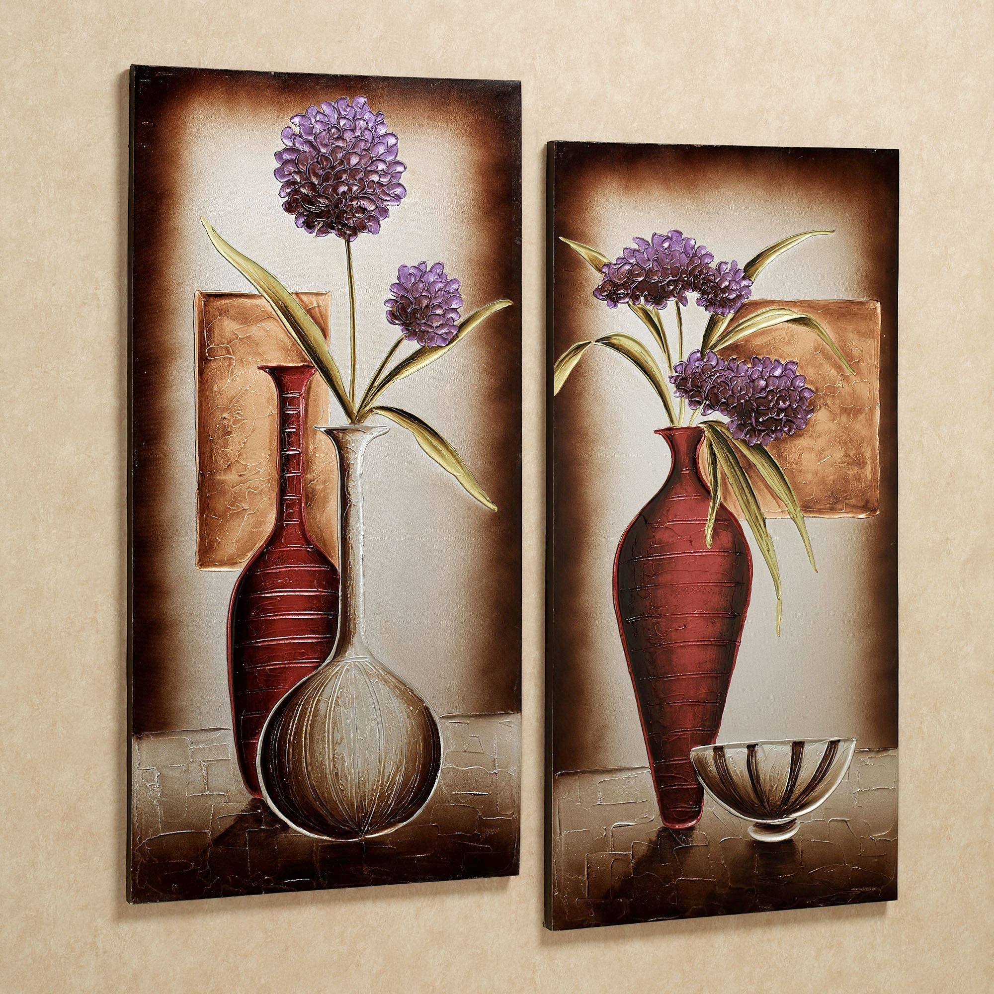 Best ideas about Canvas Wall Art Sets . Save or Pin Floral Tranquility Canvas Wall Art Set Now.