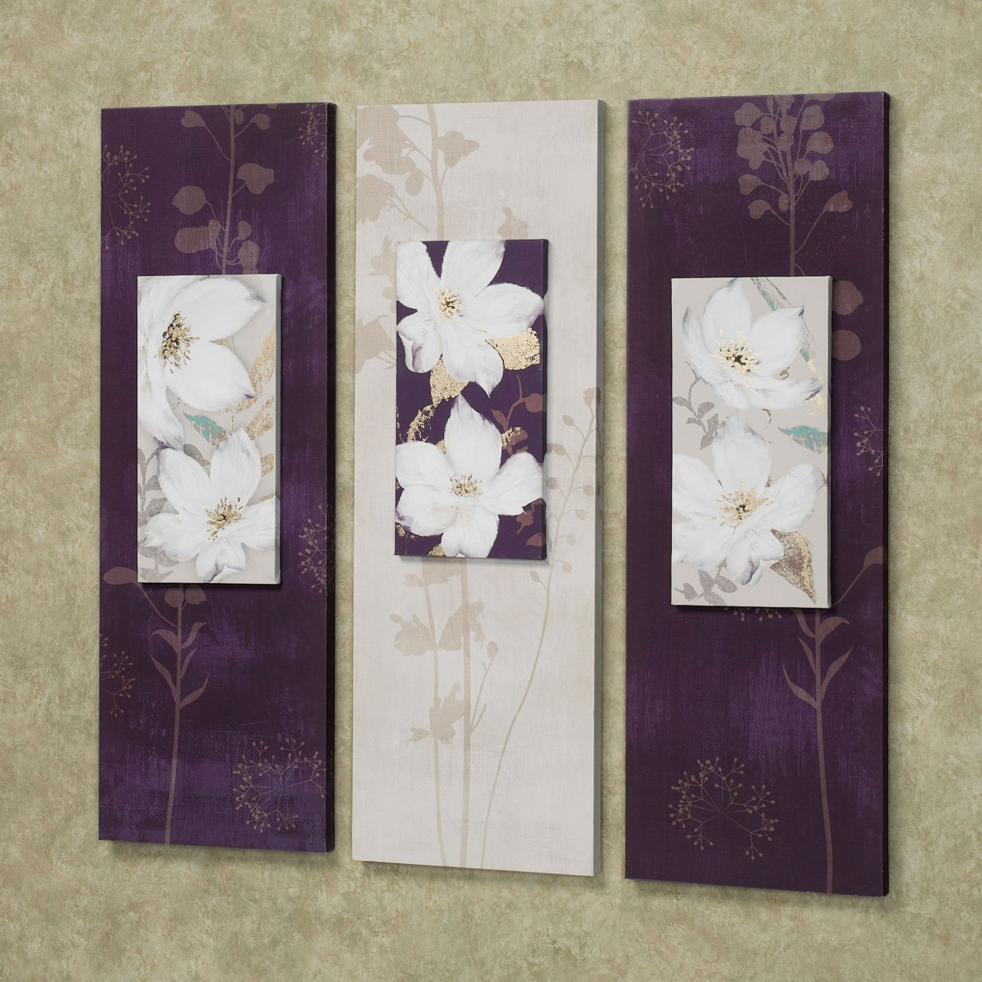 Best ideas about Canvas Wall Art Sets . Save or Pin Garden Dance Floral Canvas Wall Art Set Now.