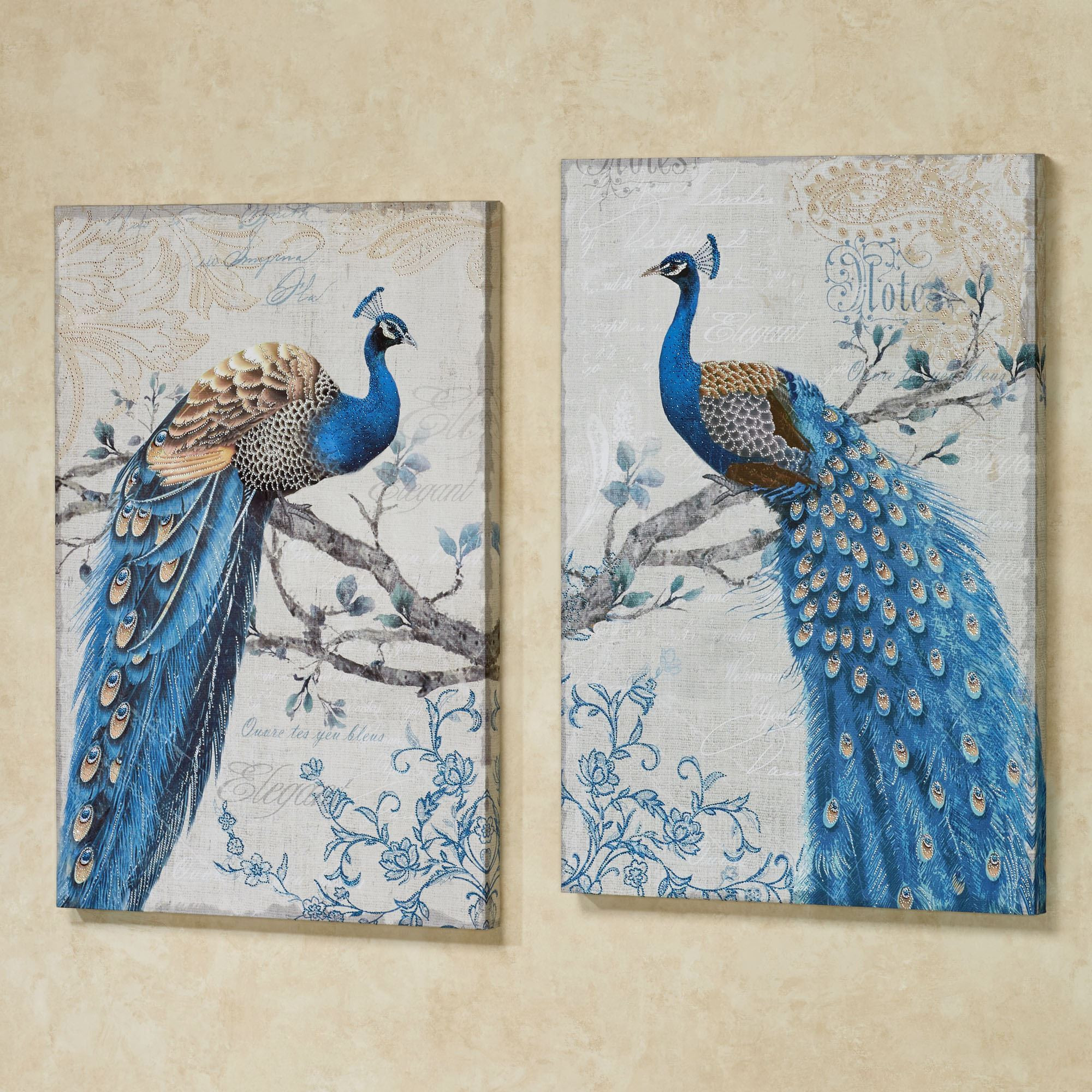 Best ideas about Canvas Wall Art Sets . Save or Pin Magnificent Peacock Giclee Canvas Wall Art Set Now.