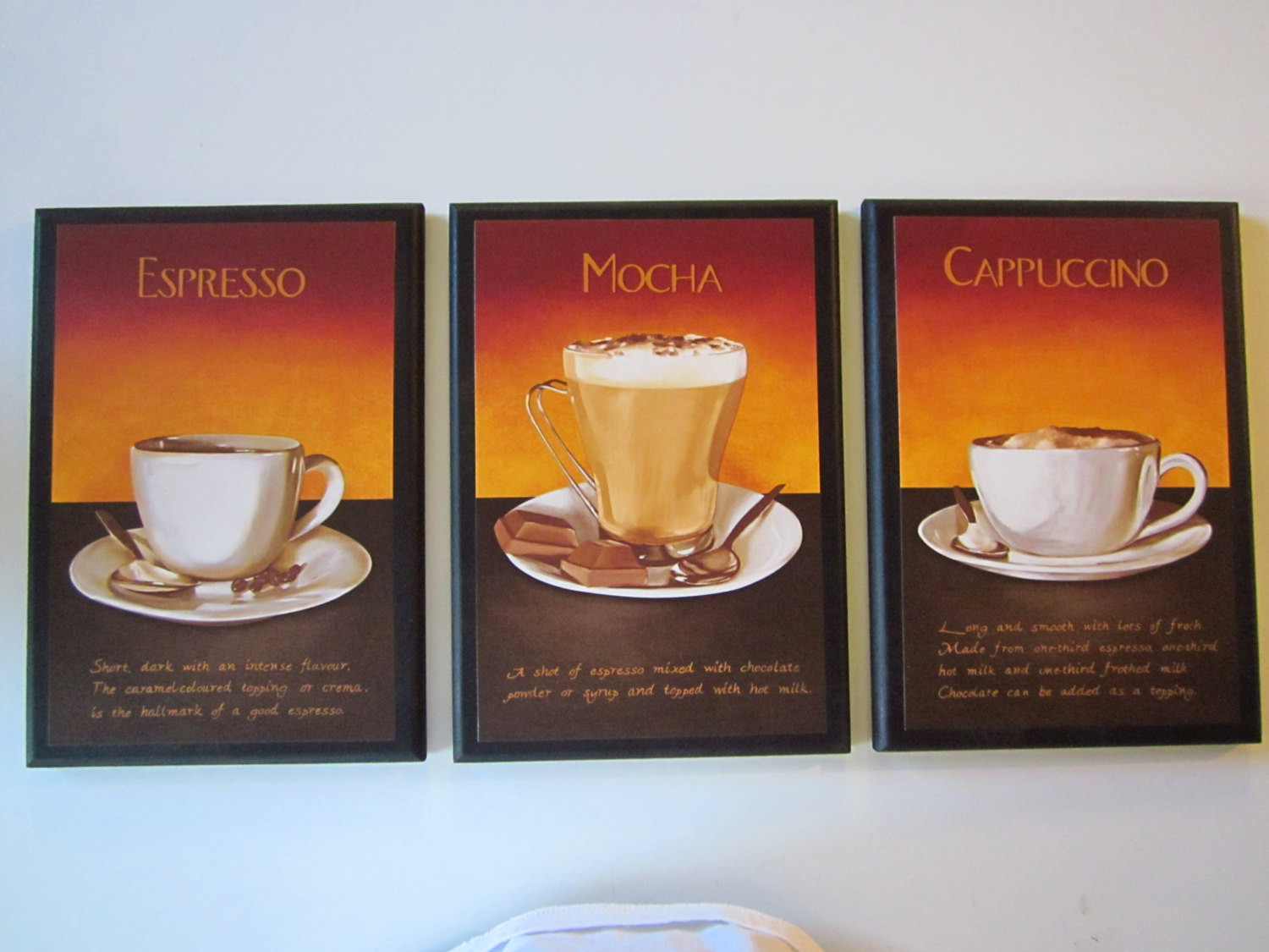 Best ideas about Cappuccino Kitchen Decor . Save or Pin Mocha Cappuccino Espresso wall decor plaques kitchen coffee Now.