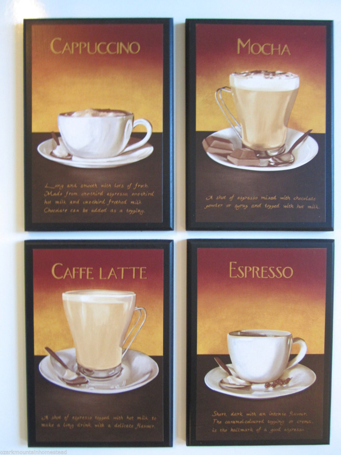 Best ideas about Cappuccino Kitchen Decor . Save or Pin Coffee Lovers Kitchen Wall Decor Plaques Mocha Espresso Now.