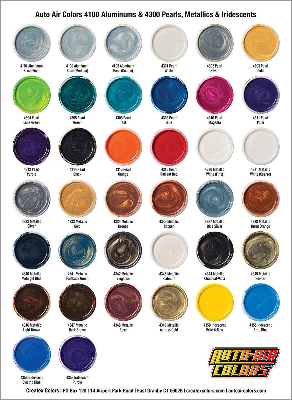 Best ideas about Car Paint Colors . Save or Pin Auto Air Color Charts Airbrush Paint Direct Now.