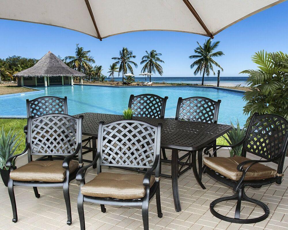 Best ideas about Cast Aluminum Patio Furniture . Save or Pin Cast Aluminum Patio Furniture Nassau Outdoor Patio 7Pc Set Now.