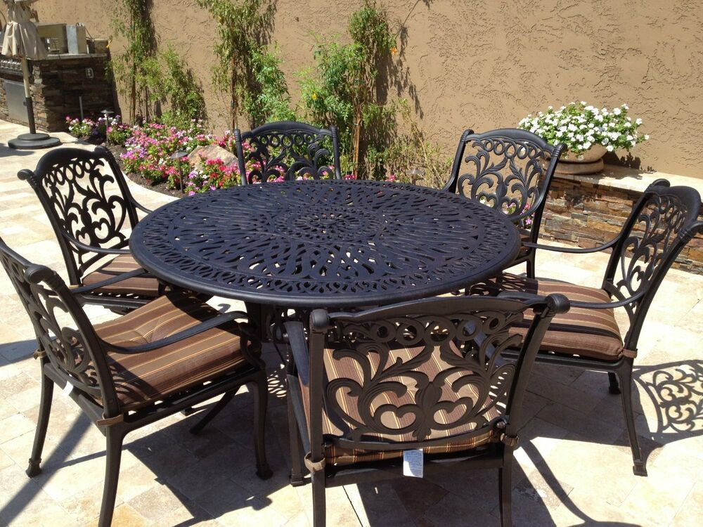 Best ideas about Cast Aluminum Patio Furniture . Save or Pin Cast Aluminum Outdoor Patio Furniture Flamingo 7pc dining Now.