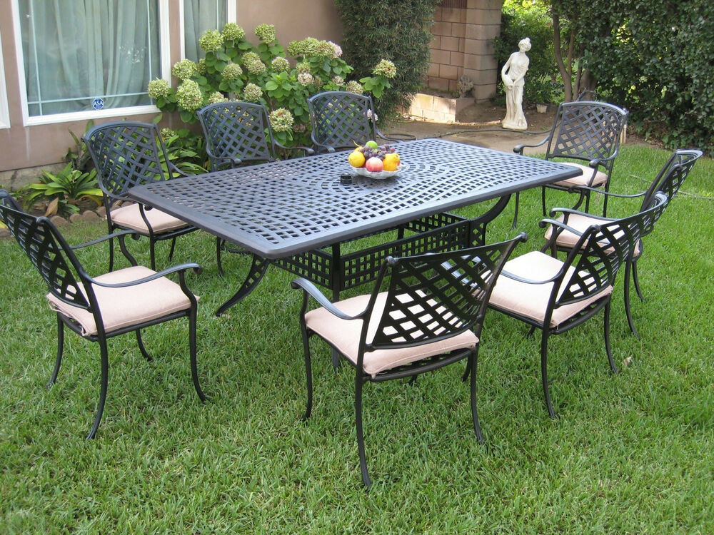 Best ideas about Cast Aluminum Patio Furniture . Save or Pin Outdoor Cast Aluminum Patio Furniture 9 Piece Dining Set Now.