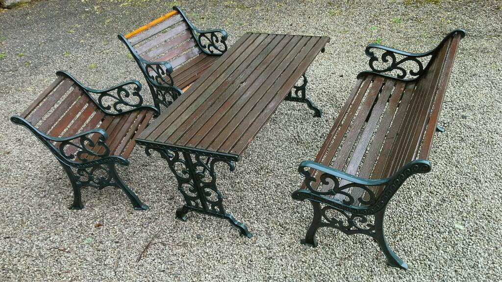 Best ideas about Cast Iron Patio Furniture . Save or Pin Cast iron garden furniture set in Keswick Cumbria Now.