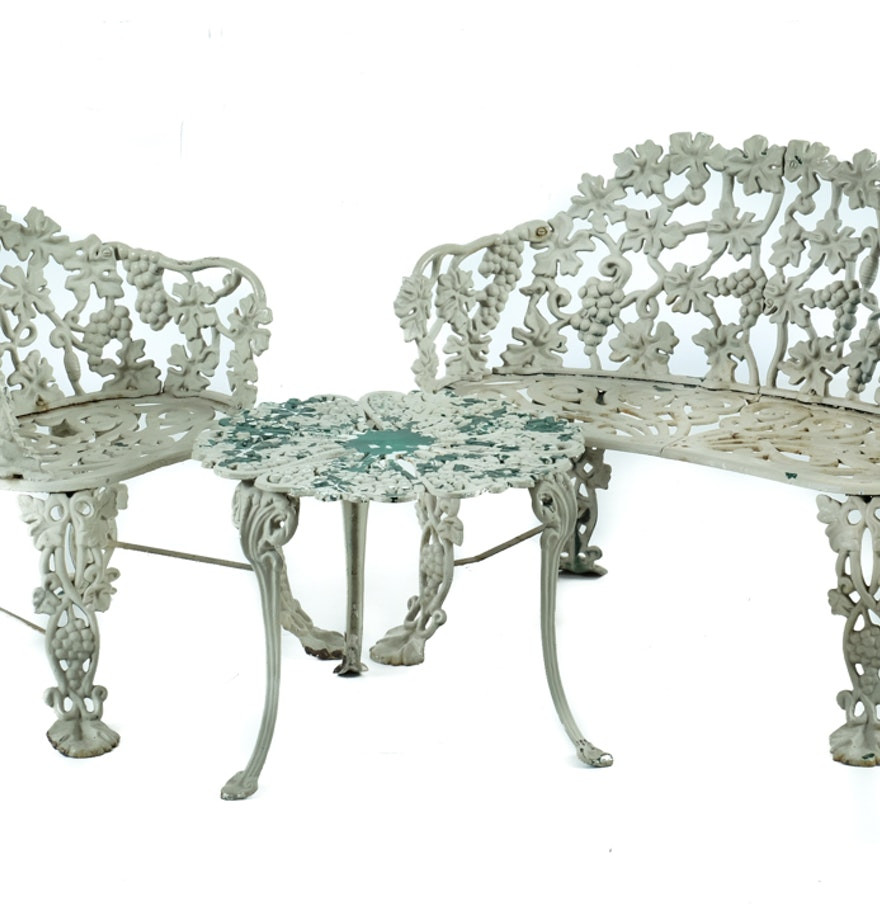 Best ideas about Cast Iron Patio Furniture . Save or Pin Vintage Cast Iron Patio Furniture Set EBTH Now.