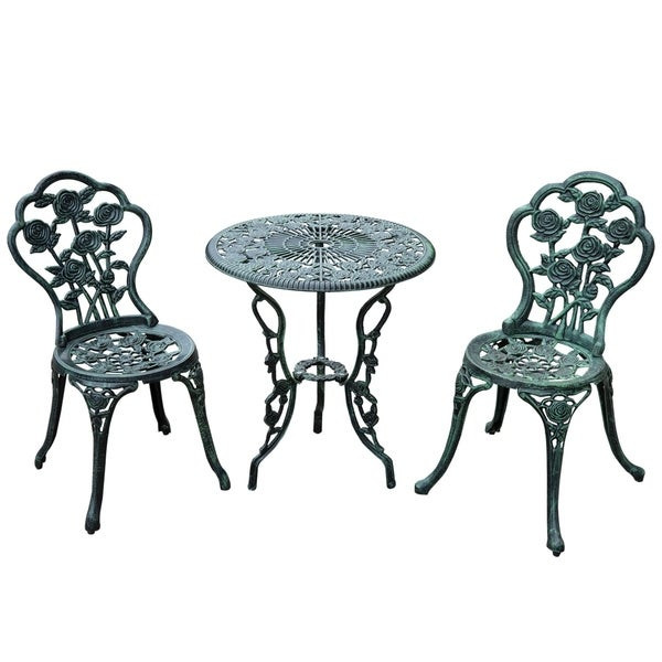Best ideas about Cast Iron Patio Furniture . Save or Pin Shop Outsunny 3 Piece Outdoor Cast Iron Patio Furniture Now.