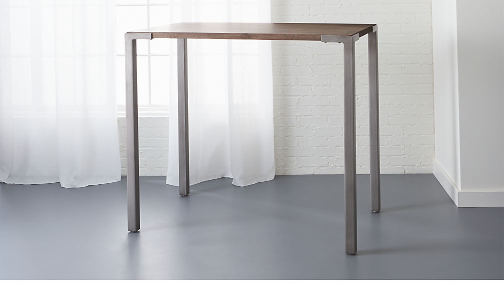 """Best ideas about Cb2 Dining Table . Save or Pin stilt 42"""" high top breakfast table Now."""