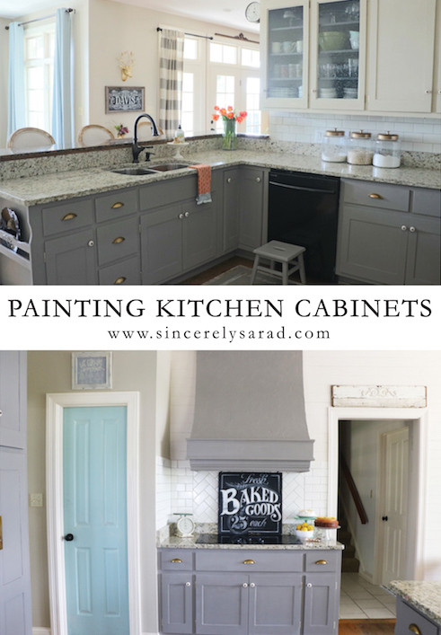 Best ideas about Chalk Paint Cabinets DIY . Save or Pin Painting Kitchen Cabinets ALL DONE Sincerely Sara D Now.
