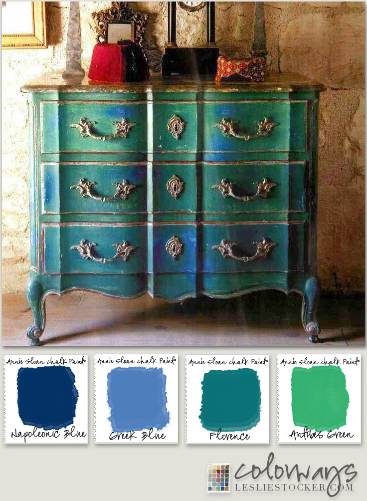 Best ideas about Chalk Paint Colors For Furniture . Save or Pin Annie Sloan Blues & Greens Now.