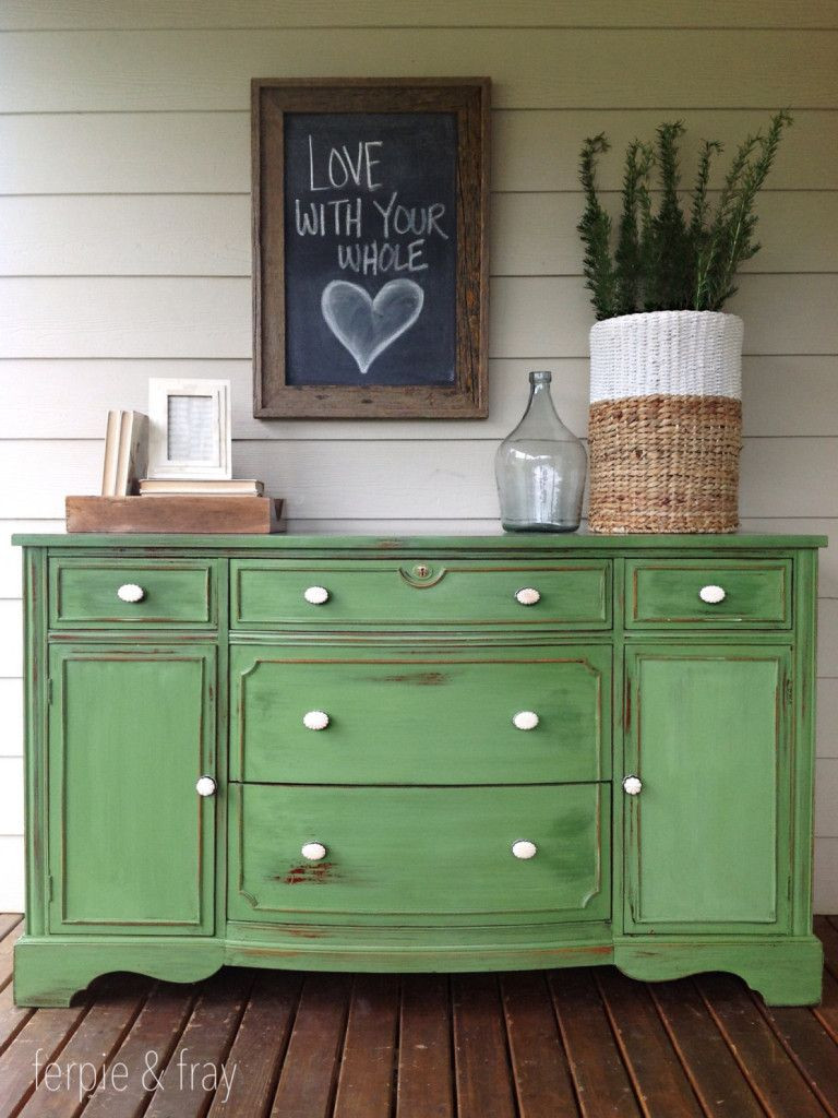 Best ideas about Chalk Paint Colors For Furniture . Save or Pin Painted Furniture by Color GREEN Painted Furniture Now.