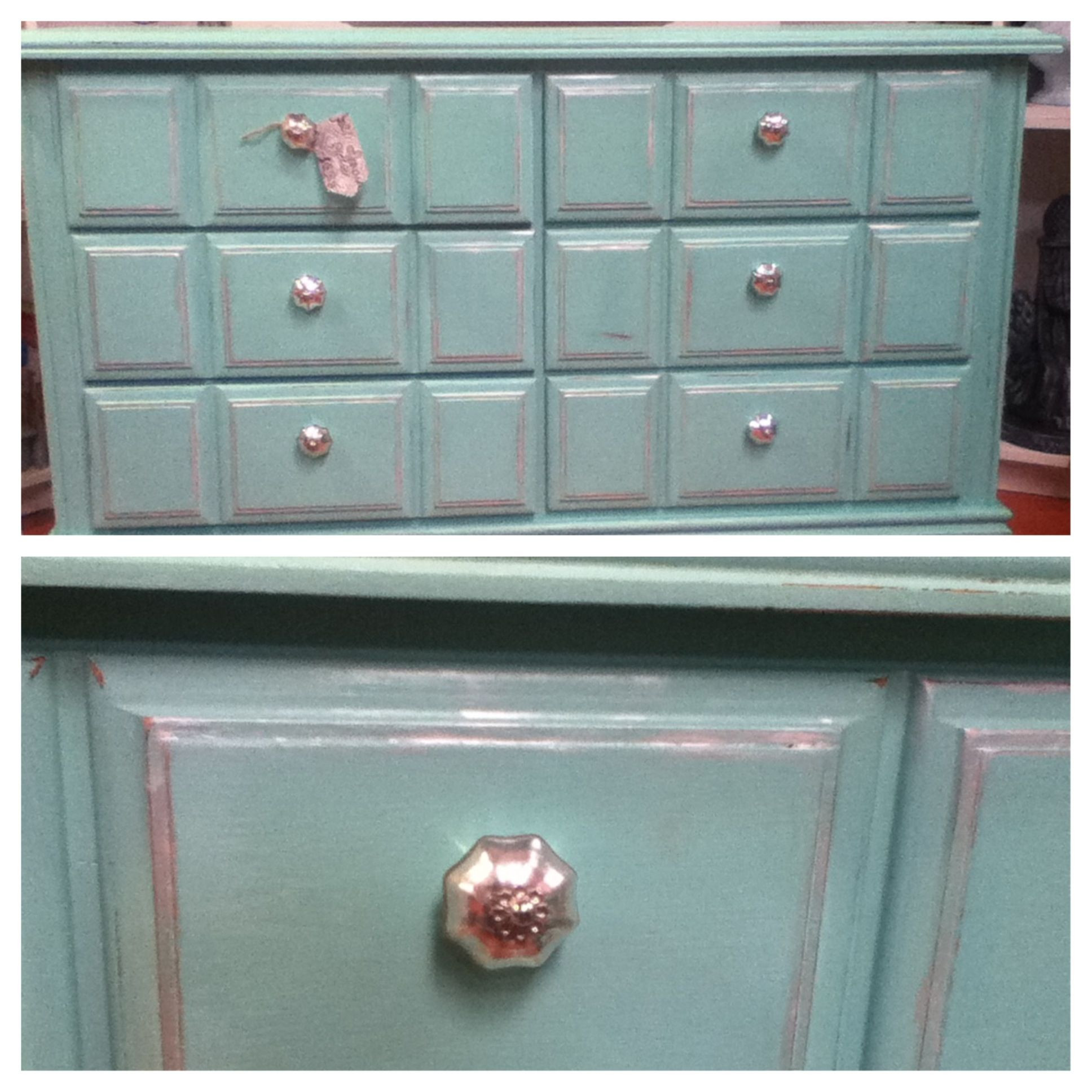 Best ideas about Chalk Paint Colors Lowes . Save or Pin DIY chalk painted turquoise dresser using calcium Now.