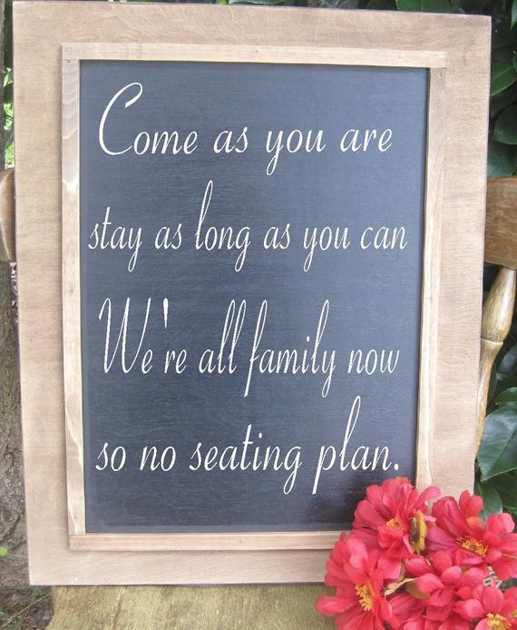 Best ideas about Chalkboard Wedding Signs DIY . Save or Pin Rustic Wedding DIY Chalkboard sign Menu 16x20 Decoration Now.
