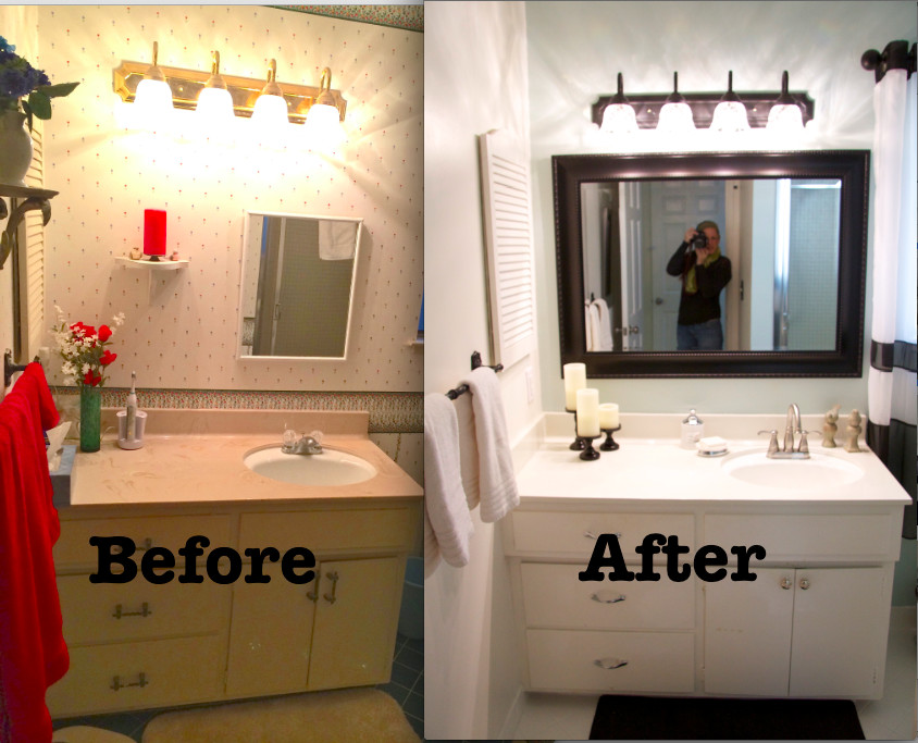 Best ideas about Cheap Bathroom Remodel DIY . Save or Pin Love some of these ideas I may replace the tub shower Now.