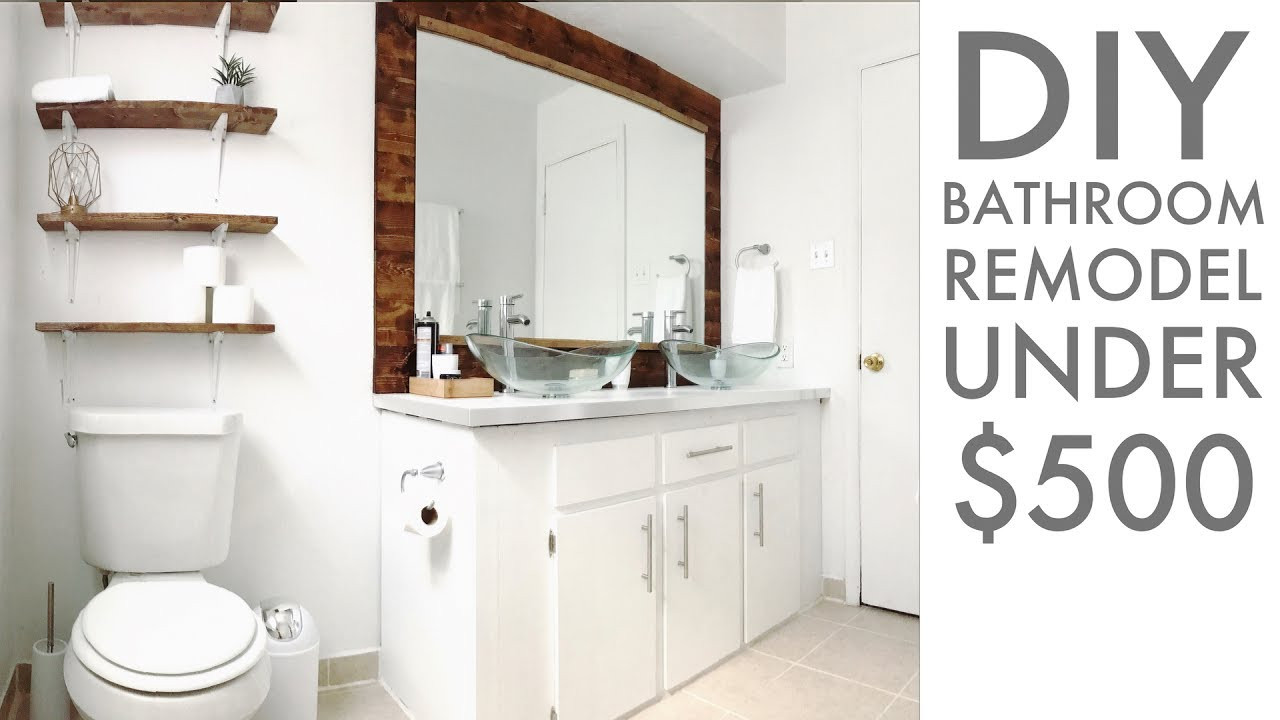 Best ideas about Cheap Bathroom Remodel DIY . Save or Pin Remodeling a bathroom for Under $500 DIY Now.