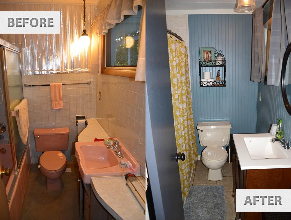 Best ideas about Cheap Bathroom Remodel DIY . Save or Pin This Old Famhouse – e Year Later Now.
