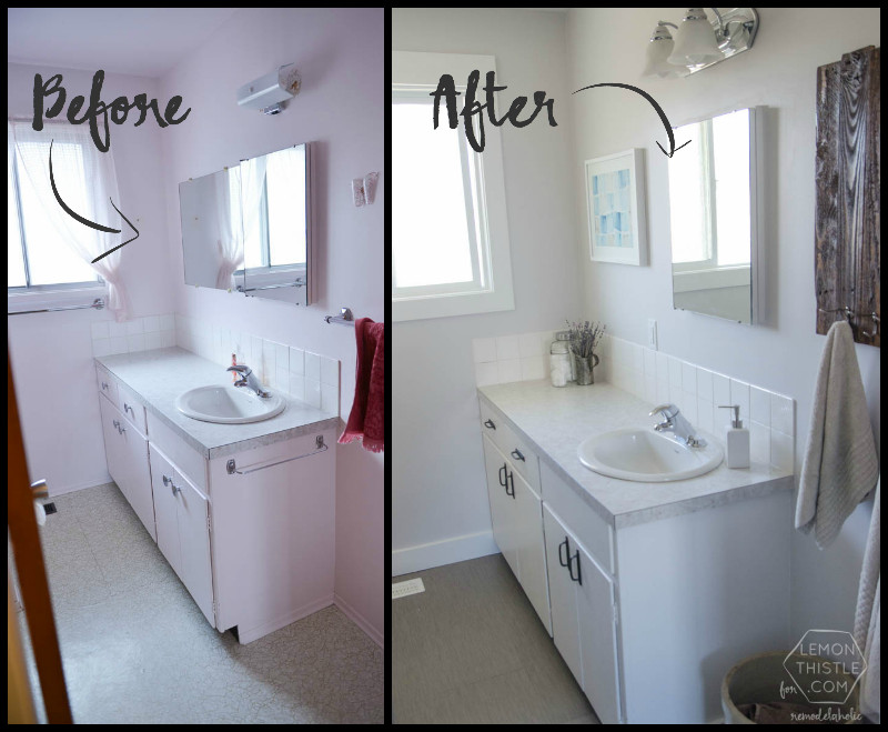 Best ideas about Cheap Bathroom Remodel DIY . Save or Pin Remodelaholic Now.