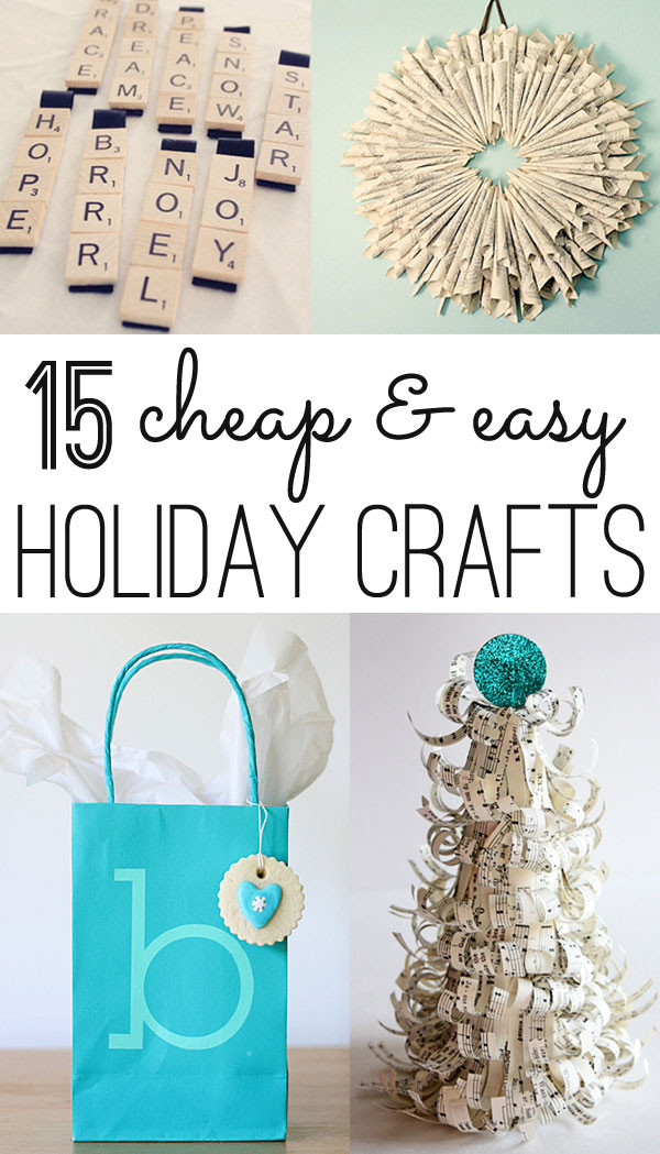 Best ideas about Cheap Christmas Crafts . Save or Pin Christmas crafts 12 cheap and easy ideas Now.