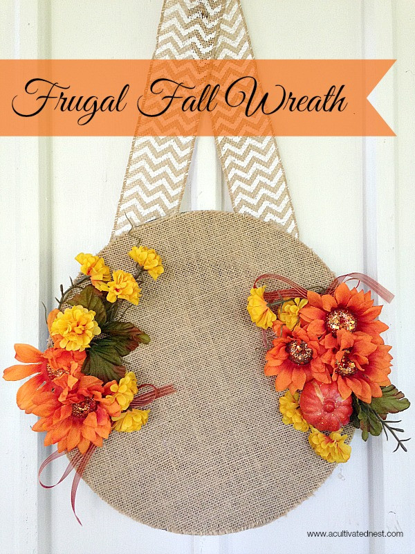 Best ideas about Cheap Crafts For Adults . Save or Pin Easy Frugal Fall Wreath Now.