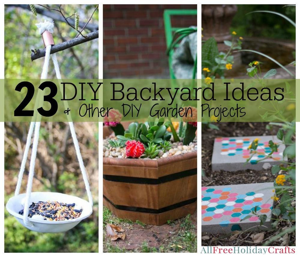 Best ideas about Cheap DIY Backyard Ideas . Save or Pin 31 DIY Backyard Ideas and Other DIY Garden Projects Now.