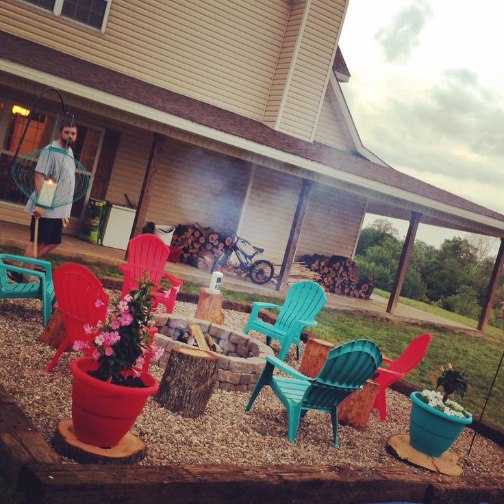 Best ideas about Cheap DIY Backyard Ideas . Save or Pin DIY inexpensive fire pit using landscape blocks railroad Now.