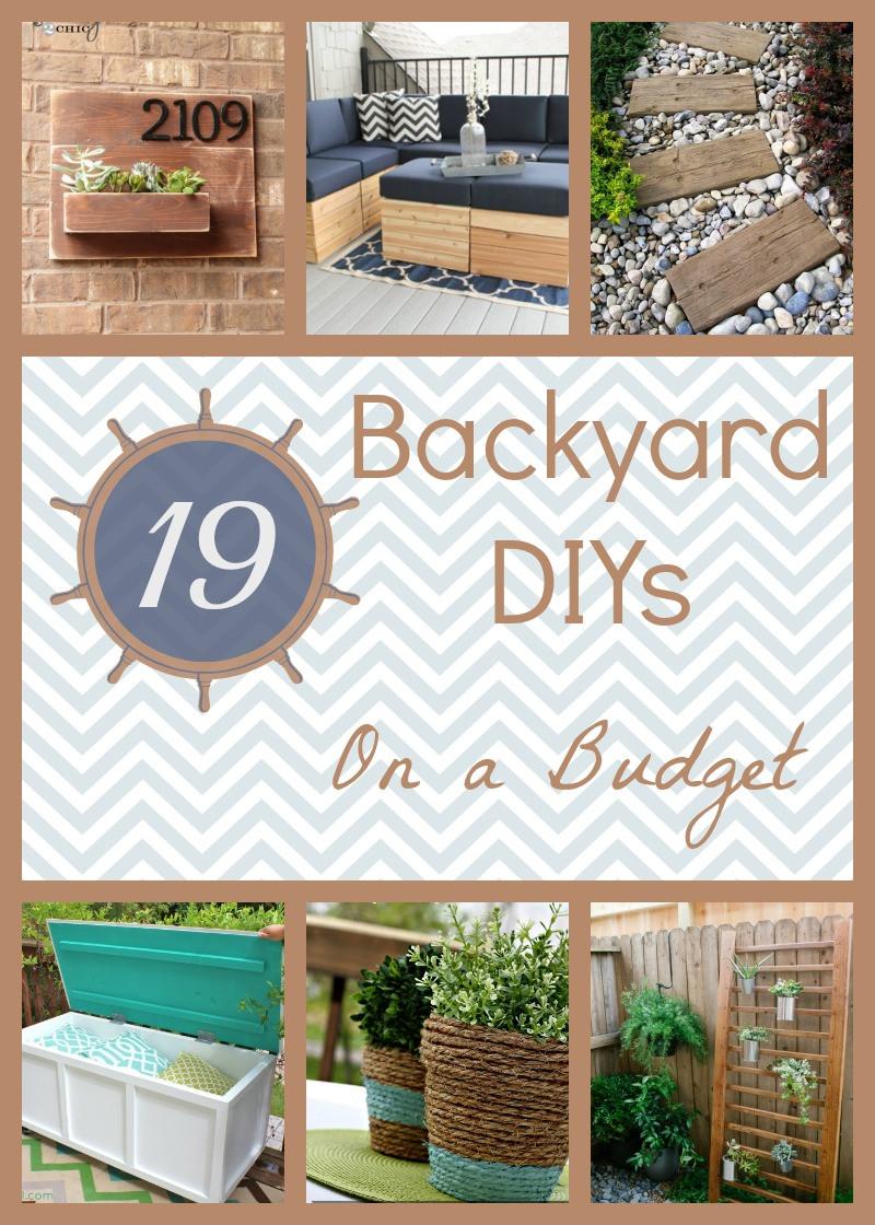 Best ideas about Cheap DIY Backyard Ideas . Save or Pin 19 Backyard DIY Spruce Ups on a Bud Now.