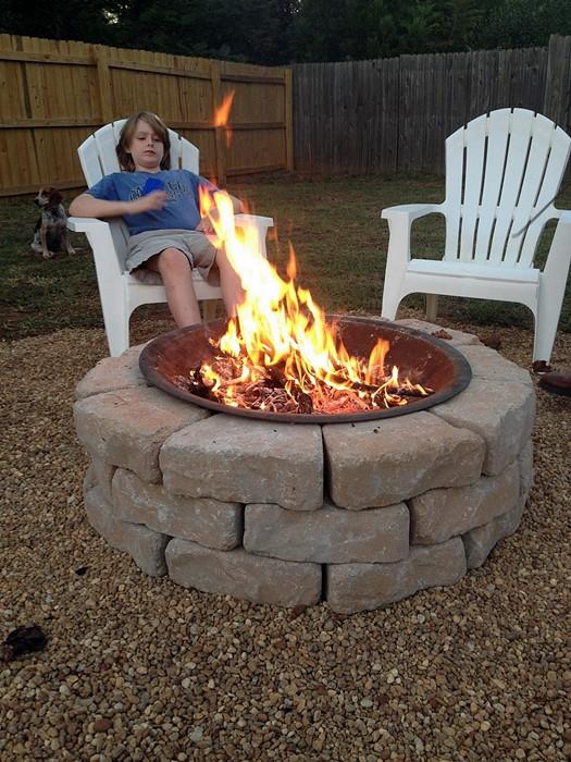 Best ideas about Cheap DIY Backyard Ideas . Save or Pin Make an Inexpensive Backyard Fire Pit Now.