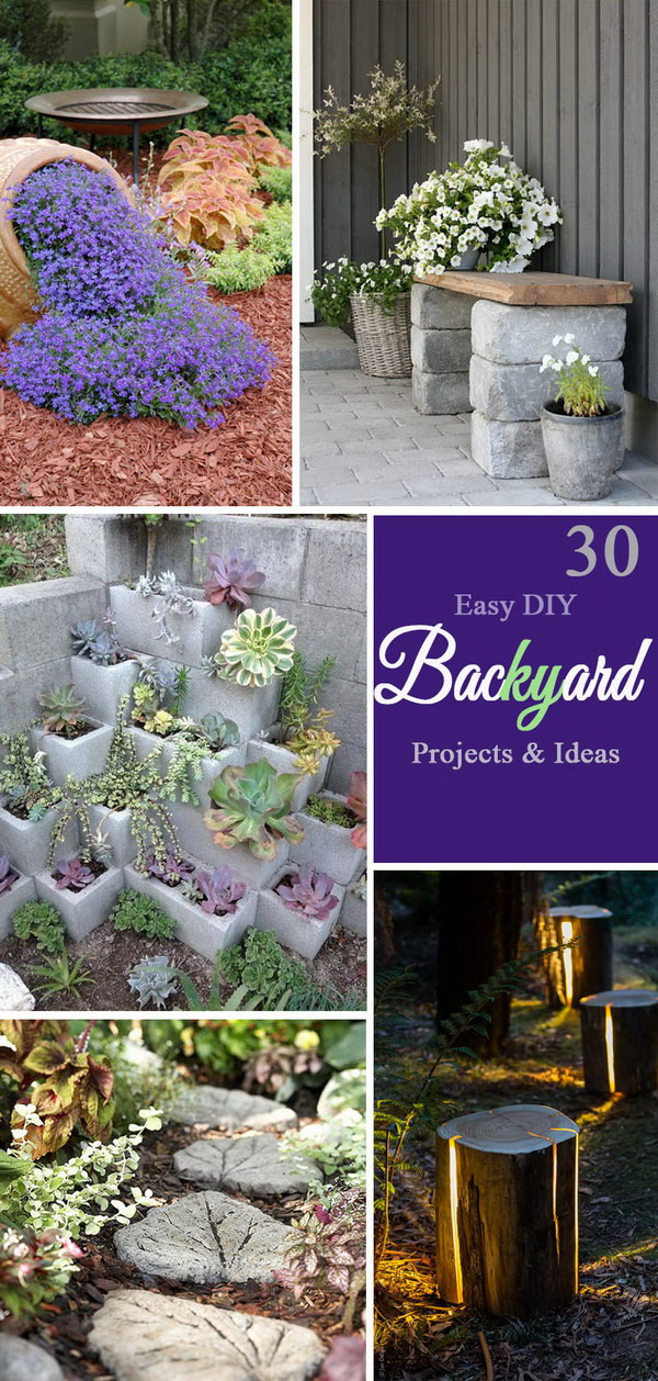 Best ideas about Cheap DIY Backyard Ideas . Save or Pin 30 Easy DIY Backyard Projects & Ideas 2017 Now.