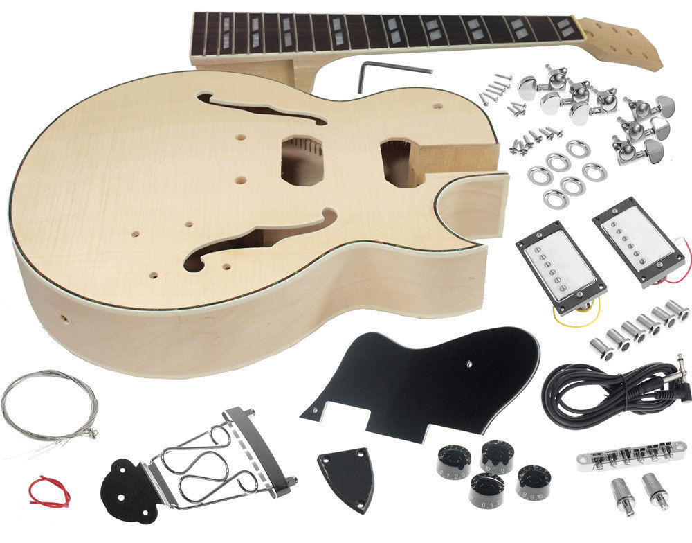 Best ideas about Cheap DIY Guitar Kits . Save or Pin Solo ES Style DIY Guitar Kit Maple Body Flamed Maple Top Now.