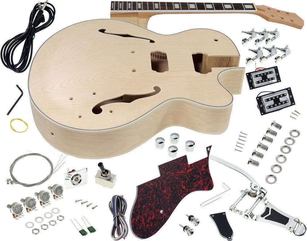 Best ideas about Cheap DIY Guitar Kits . Save or Pin Solo GF Style DIY Guitar Kit Maple Hollow Body Rosewood Now.