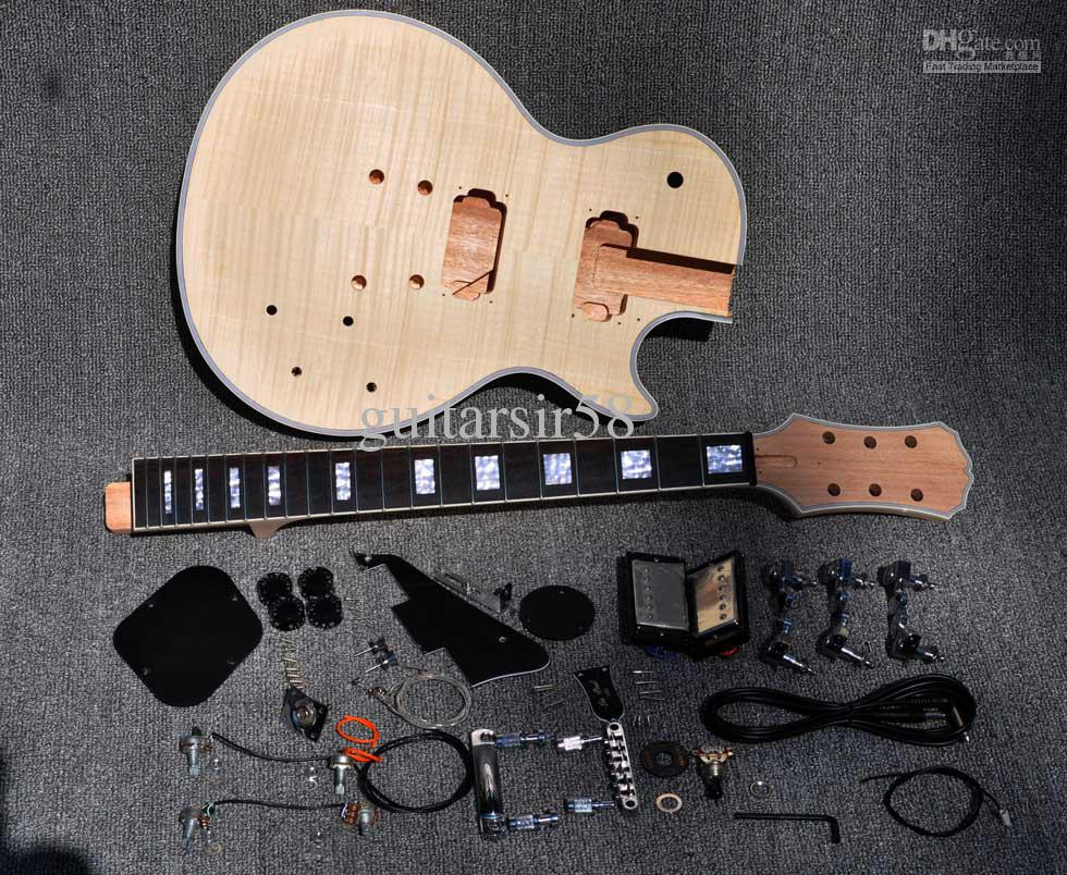 Best ideas about Cheap DIY Guitar Kits . Save or Pin 2012 Unfinished Electric Guitar Kit With Flamed Maple Top Now.
