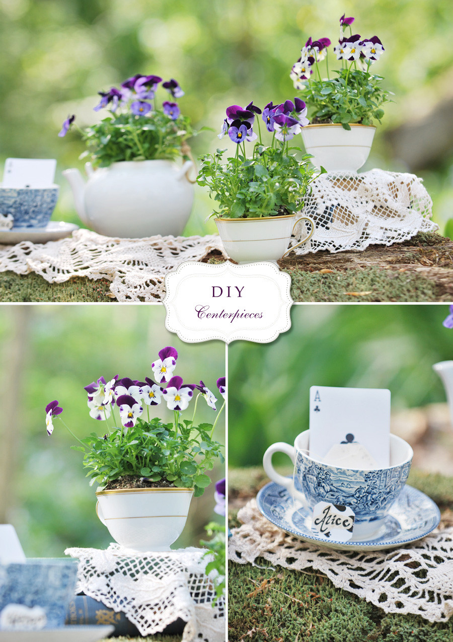 Best ideas about Cheap DIY Wedding Centerpieces . Save or Pin DIY Flower and Teacup Centerpieces Andrea Dozier Dayton Now.